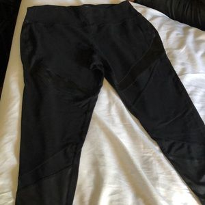 Lane Bryant Mesh & Pleather Leggings Size 18/20